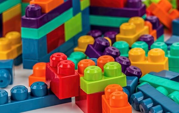 Piezas de construcción de juguete